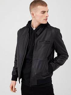 hugo-lutwin-leather-jacket-black