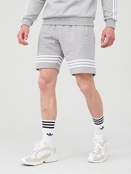 adidas Originals  Adidas Originals Outline Shorts - Medium Grey Heather