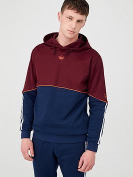 adidas Originals  Adidas Originals Outline Overhead Hoodie - Burgundy