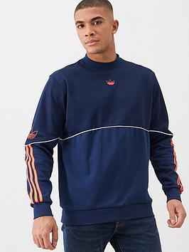 adidas Originals  Adidas Originals Outline Crew Neck Sweat - Navy