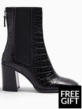 topshop-topshop-huntington-croc-leather-calf-boots-black