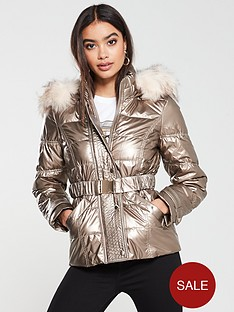 river-island-river-island-quilted-sleeve-padded-jacket-bronze