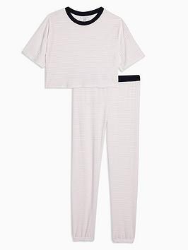 topshop-topshop-stripe-jersey-boxy-pyjama-set-blush