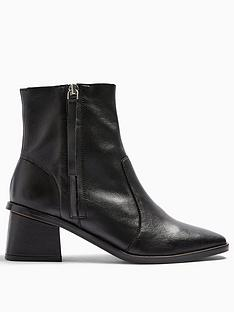 topshop-topshop-margot-side-zip-leather-ankle-boots-black