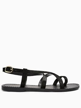 topshop-hiccup-strappynbspflat-sandals-black