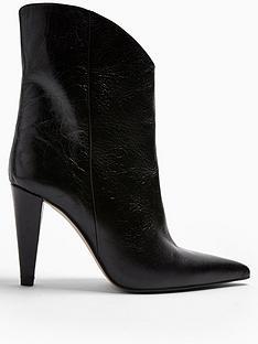 topshop-havana-cone-heel-leather-calf-boots-black