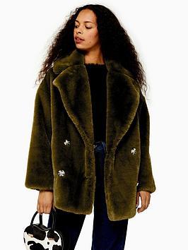 topshop-petite-ally-velvet-faux-fur-coat