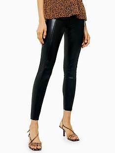 topshop-topshop-pu-ankle-grazer-skinny-trousers-black