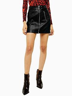 topshop-hardware-detail-pu-mini-skirt-black