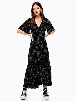 topshop-topshop-tall-button-angel-sleeve-midi-dress-monochrome