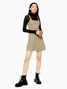 topshop-topshop-jacquard-belted-pinafore-dress-tan