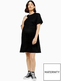 topshop-topshop-maternity-smock-dress-black