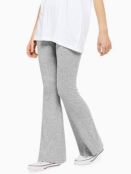 topshop-topshop-rib-marl-flare-trousers-grey-marl