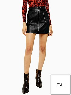 topshop-tall-hardware-detail-pu-mini-skirt-black
