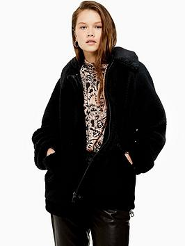 topshop-faux-borg-short-length-jacket