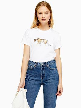 topshop-topshop-tiger-t-shirt-white