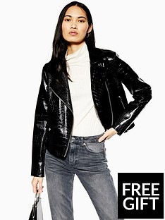 topshop-pu-faux-croc-short-jacket