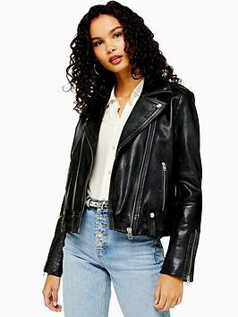 topshop-leather-classic-biker-jacket-black