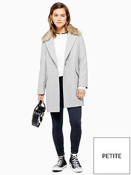 topshop-petite-monica-faux-fur-collar-coat-grey