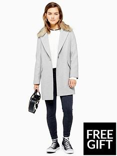 topshop-topshop-petite-monica-faux-fur-collar-coat-grey