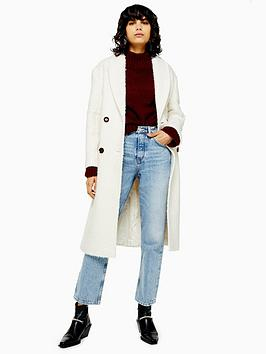Topshop Topshop Tall Kim Boucle Coat - Ivory Picture
