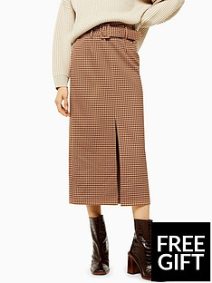 topshop-topshop-tweed-check-belted-straight-midi-skirt