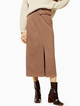 topshop-tweed-check-belted-straight-midi-skirt