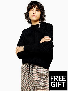 topshop-topshop-recycled-relaxed-fit-knitted-jumper-black