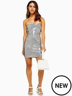 topshop-petite-holographic-bodycon-dress
