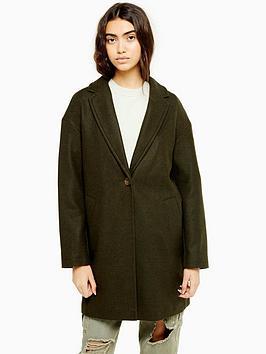 topshop-longline-light-weight-jacket-khaki