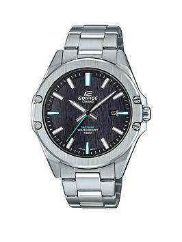 Casio Casio Casio Ediface Black And Green Detail Date Dial Stainless Steel  ... Picture