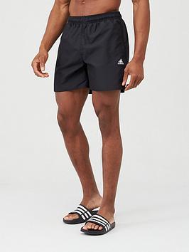 Adidas Adidas Solid Swim Shorts - Black Picture
