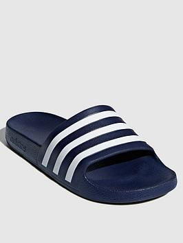 Adidas Adidas Adilette Aqua Slides  - Navy Picture