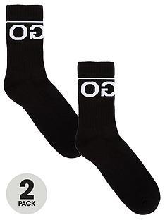 hugo-two-pack-of-logo-socks-black