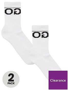 hugo-two-pack-of-logo-socks-white
