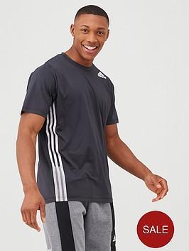 adidas-training-3-stripe-t-shirt-black