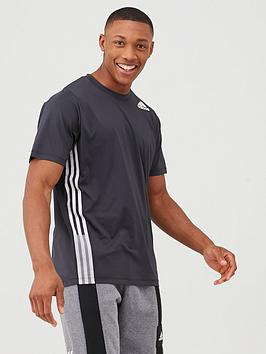 Adidas Adidas Training 3 Stripe+ T-Shirt - Black Picture