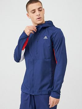 Adidas   Own The Run Running Jacket - Indigo