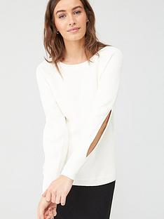 v-by-very-split-sleeve-knitted-jumper-ivory
