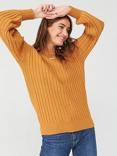 v-by-very-button-back-jumper-mustard