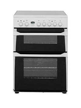 Indesit Indesit Id60C2W 60Cm Wide Ceramic Hob Double Oven Electric Cooker  ... Picture