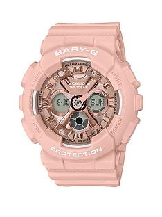 casio-casio-baby-g-rose-gold-chronograph-dial-pink-resin-strap-ladies-watch