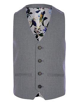 river-island-boys-textured-pin-dot-suit-waistcoat-blue