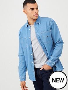 tommy-jeans-denim-long-sleeved-shirt-blue