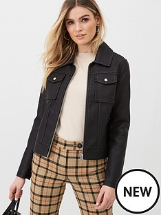 v-by-very-faux-leather-pocket-detail-jacket-black