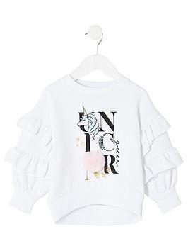 river-island-mini-mini-girls-unicorn-pom-pom-jumper-white