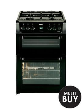 beko-bdvg694kp-60cm-double-oven-gas-cooker-black