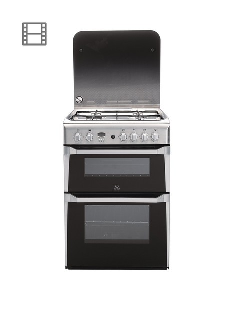 indesit-id60g2x-60cm-double-oven-gas-cooker-with-fsd-stainless-steel
