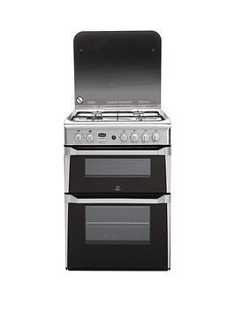Indesit Indesit Id60G2X 60Cm Double Oven Gas Cooker With Fsd - Stainless  ... Picture