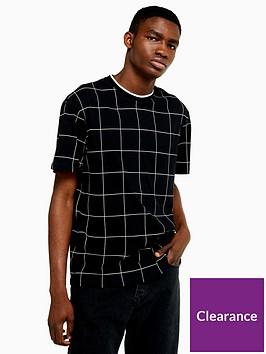 topman-topman-window-pane-check-t-shirt-black